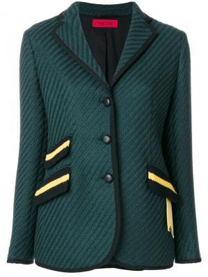 Пиджак в рубчик The Gigi. Цвет: зелёный