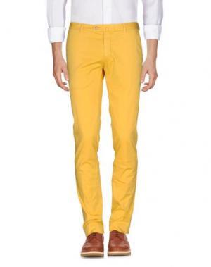 Повседневные брюки GIO ZUBON. Цвет: желтый