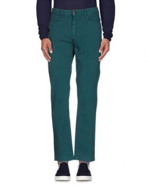 Джинсовые брюки ATIKIN. Цвет: цвет морской волны