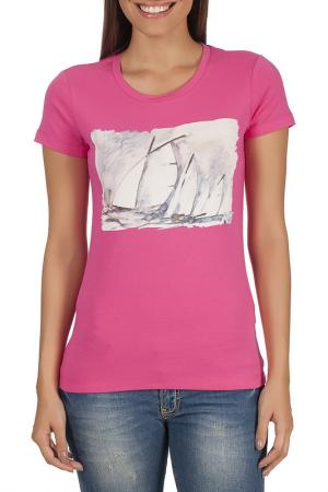 T-SHIRT Galvanni. Цвет: pink and white