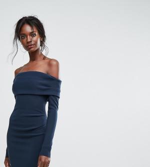Bec & Bridge Эксклюзивное платье мини с открытыми плечами. Цвет: синий