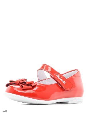 Туфли Kapika. Цвет: красный