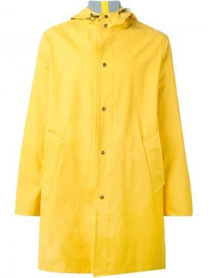 Классический плащ-дождевик с капюшоном Ami Alexandre Mattiussi. Цвет: жёлтый и оранжевый
