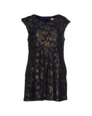 Короткое платье BONSUI. Цвет: темно-синий