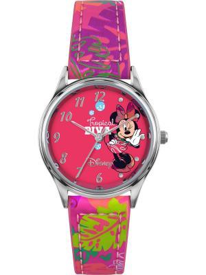 Часы Disney by RFS. Цвет: малиновый, оливковый, серебристый, фиолетовый