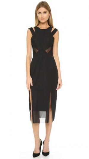 Платье Los Angelina Three Floor. Цвет: чернильно-черный