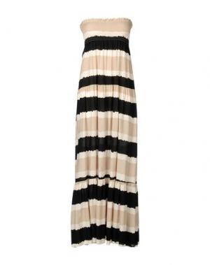 Платье длиной 3/4 BONSUI. Цвет: бежевый
