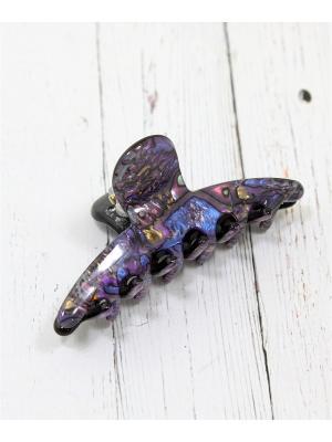 Заколка-краб Vel Vett. Цвет: лазурный, золотистый, темно-фиолетовый