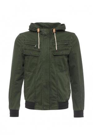 Куртка джинсовая Sisley. Цвет: хаки