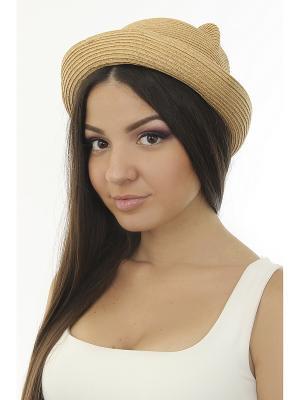 Шляпа Happy Charms Family. Цвет: коричневый, золотистый