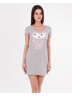 Ночная сорочка Mark Formelle. Цвет: серый меланж,коралловый,белый