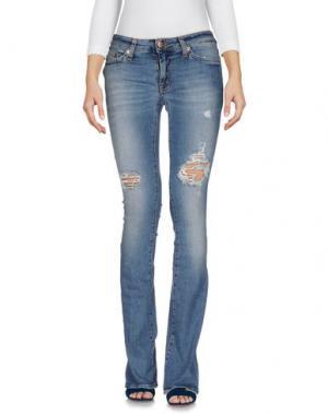 Джинсовые брюки PEOPLE LAB.. Цвет: синий