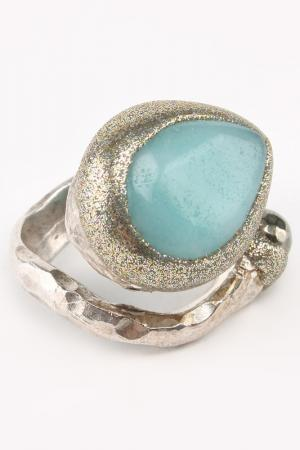 Кольцо Estrosia. Цвет: серебристый, голубой