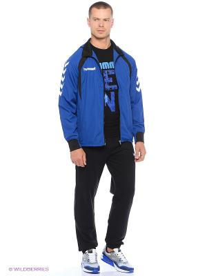 Курткa TEAM PLAYER MICRO JACKET HUMMEL. Цвет: синий, белый, черный