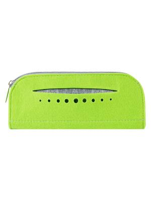 Косметичка фетровая с карманом IQ Format. Цвет: зеленый