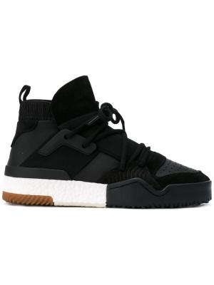 Кроссовки AW BBall Adidas Originals By Alexander Wang. Цвет: чёрный