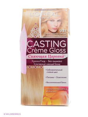 Стойкая краска-уход для волос Casting Creme Gloss, 931,Очень светло-русый золотисто-пепельный L'Oreal Paris. Цвет: золотистый