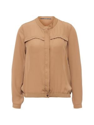 Блузка Joymiss. Цвет: коричневый