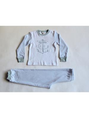 Пижама Iota. Цвет: белый, голубой