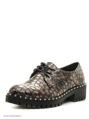 Туфли Aotoria. Цвет: серый