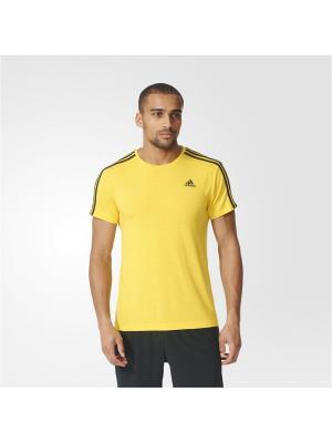 Футболка спортивная муж. ESS 3S TEE Adidas. Цвет: желтый