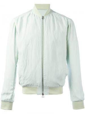Классическая куртка-бомбер Qasimi. Цвет: зелёный