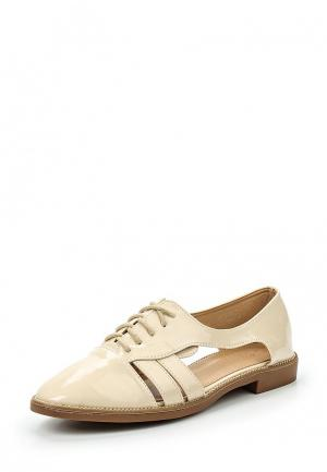 Ботинки Catisa. Цвет: бежевый