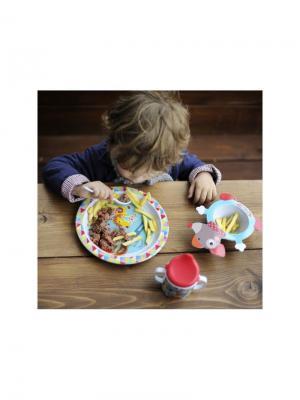 Набор посуды 4 предмета Волшебный Цирк Ebulobo. Цвет: светло-зеленый, белый, голубой, красный, розовый, светло-голубой