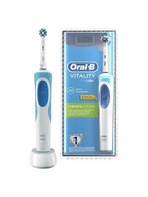 Электрическая аккумуляторная зубная щетка Oral-B Рrecision Сlean. Цвет: светло-голубой