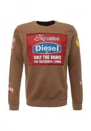 Свитшот Diesel. Цвет: коричневый