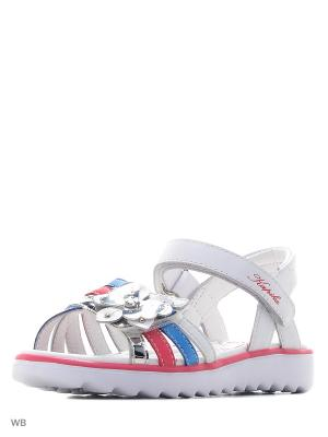 Туфли Kapika. Цвет: белый, голубой