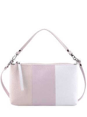 Сумка Esse. Цвет: молочный, белый, розовый