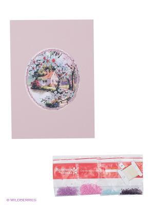 Набор для вышивания с бисером и паспарту Пора цветения Матренин Посад. Цвет: розовый