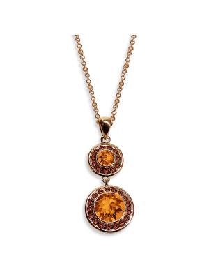 Кулон Isabelle с медовыми кристаллами Swarovski Mademoiselle Jolie Paris. Цвет: рыжий,оранжевый,золотистый