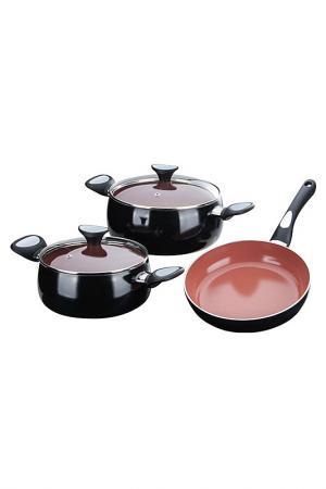 Набор посуды, 5 предметов Granchio. Цвет: коричневый
