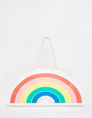 BAN DO Сумка-холодильник с дизайном в виде гигантской радуги Ban.Do. Цвет: мульти