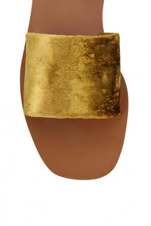 Бархатные сандалии Prada. Цвет: none