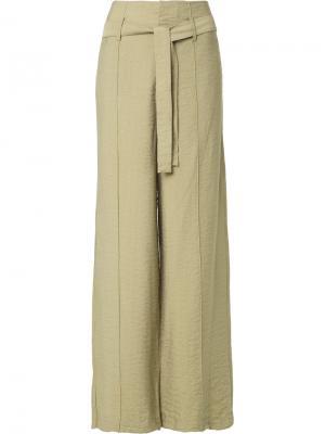 Belted wide leg trousers Uma | Raquel Davidowicz. Цвет: телесный