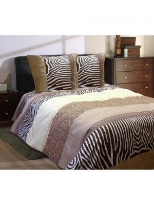Комплект постельного белья,Евро Блакiт. Цвет: коричневый, бежевый, светло-коричневый