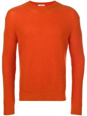 Трикотажный свитер Valentino. Цвет: жёлтый и оранжевый