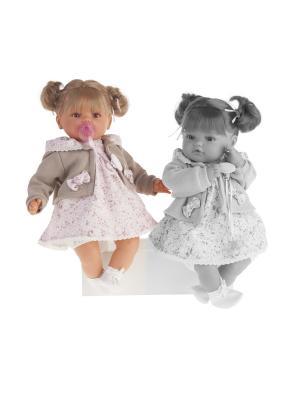 Кукла Каталина в бежевом, плачущая,42см Antonio Juan. Цвет: бледно-розовый, бежевый