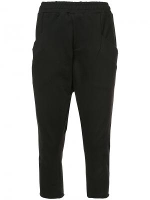 Drop-crotch cropped sweatpants Baja East. Цвет: чёрный