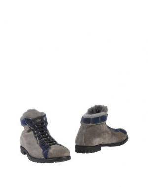 Полусапоги и высокие ботинки SIMONE MARIOTTI. Цвет: серый