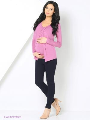 Блуза для беременных и кормящих Nuova Vita. Цвет: розовый