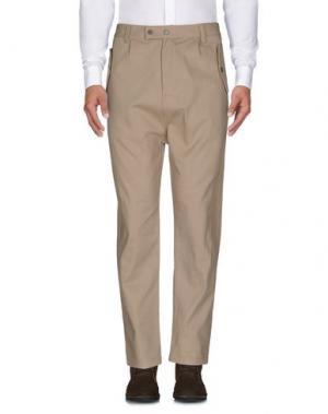 Повседневные брюки CAMO. Цвет: песочный