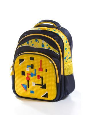 Рюкзак Vittorio Richi. Цвет: темно-синий, желтый