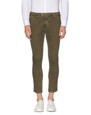 Повседневные брюки REIGN. Цвет: зеленый-милитари