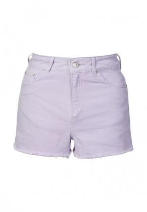 Шорты джинсовые Topshop. Цвет: фиолетовый
