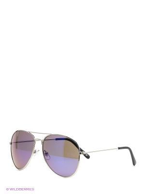 Солнцезащитные очки Oodji. Цвет: серый