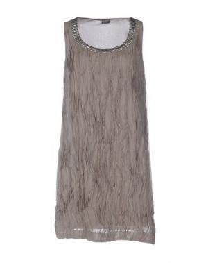 Короткое платье 19.70 NINETEEN SEVENTY. Цвет: серый
